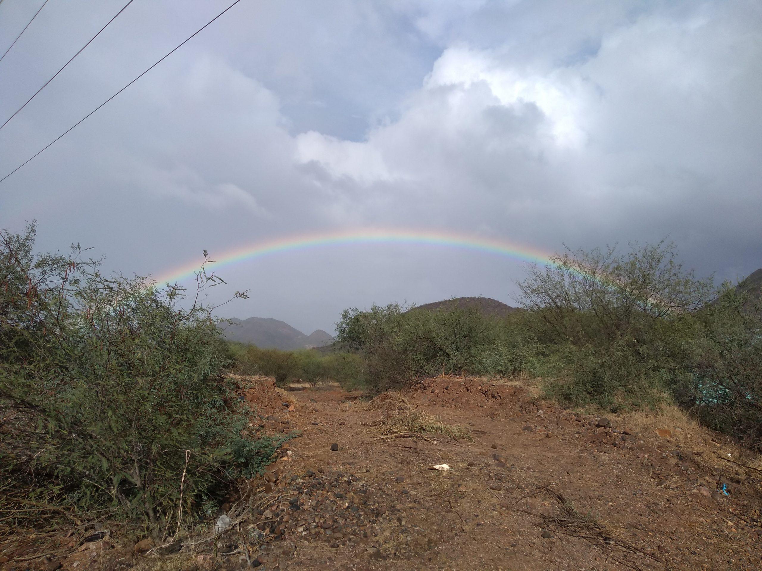 Rainbow over Pilar area (2019-11-19)