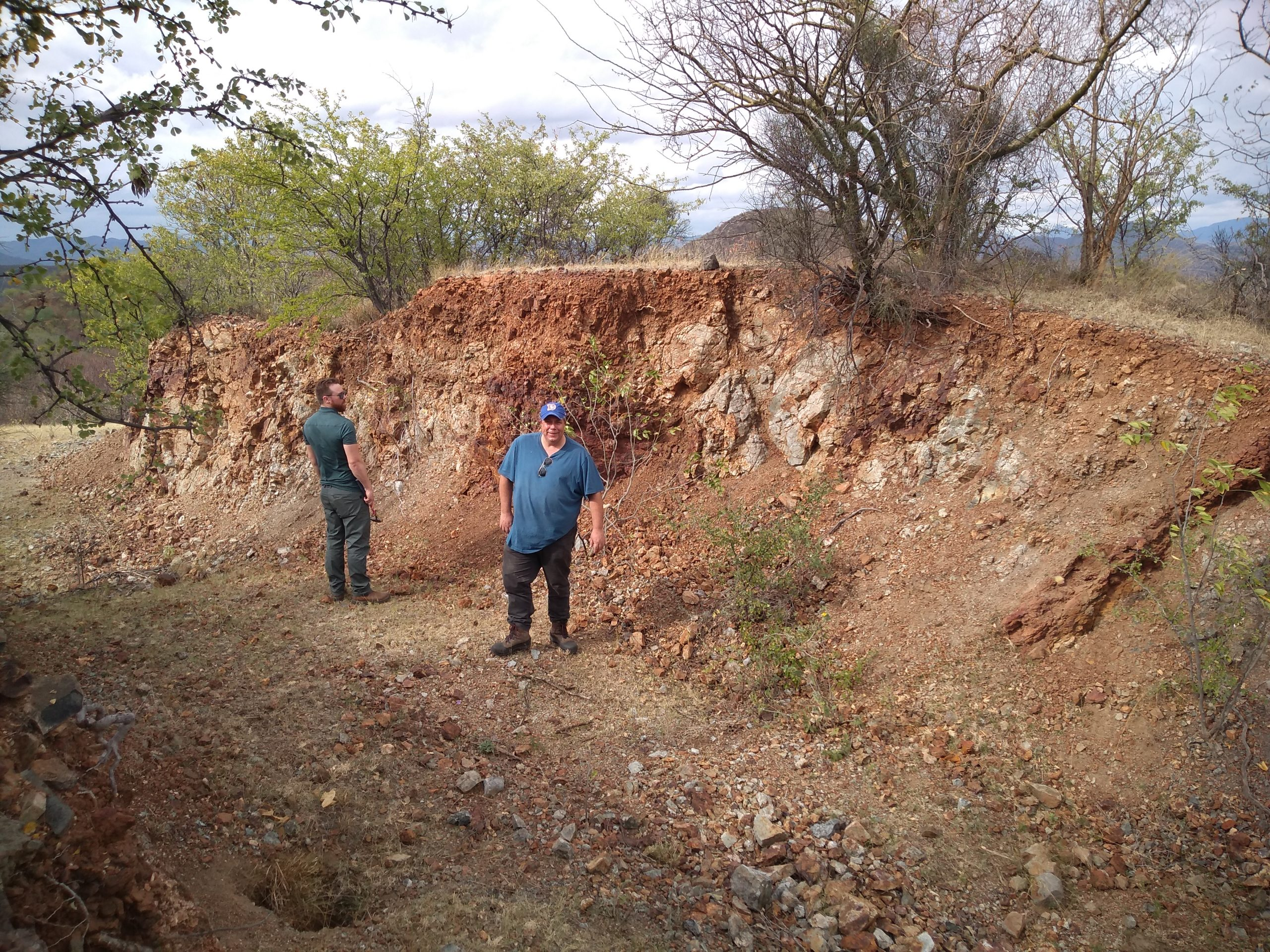 TOCVAN management reviewing the 4 Trench area at Pilar