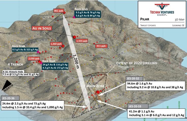Tocvan Initiates Next Phase of Exploration at Pilar Gold-Silver Project Sonora, Mexico
