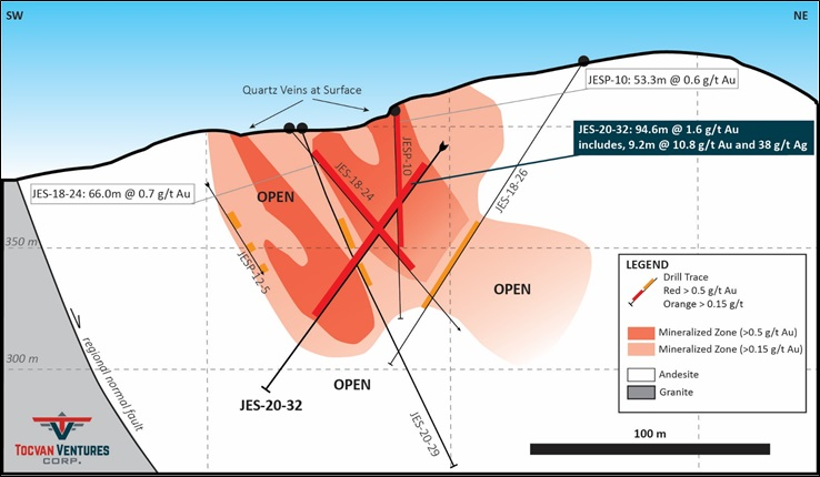 Tocvan Reports 92% Recovery of Gold from Preliminary Metallurgical Results.