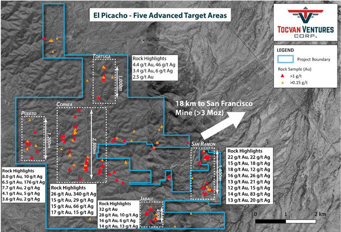 Tocvan Announces Agreement with Millrock for El Picacho Project Sonora, Mexico.