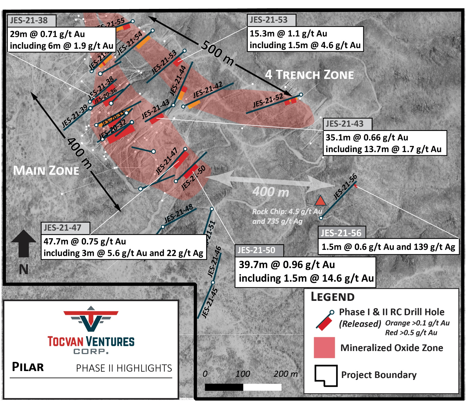 Tocvan Provides Summary of Phase II Drill Program and Outlines Next Steps for Pilar Project